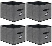 Onlyeasy Foldable Cloth Storage Cubes With Label Holders - Fabric Storage Bin...
