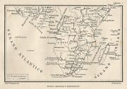 C2136 Africa Central And South - Map Period - 1922 Vintage Map