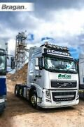 To Fit Volvo Fh Series 2 And 3 Low Black Roof Bar+jumbo Led Spots+leds+beacons