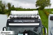To Fit 13+ Volvo Fh4 Globetrotter Standard Black Roof Bar+led Spots+clear Beacon