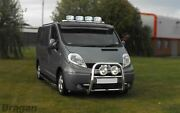 To Fit 07 - 14 Peugeot Boxer Stainless Steel Flat Roof Bar+jumbo Led Spots+leds