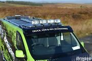 To Fit 1999-2006 Iveco Daily Stainless Flat Roof Top Bar+jumbo Led Spots+clamps