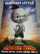 Chicken Little/foxy Loxy 2004 47 X 72 Double Sided Picture Theater Used