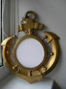 Beautiful Rare Large Vintage Mirror Frame Panels Anchor Bronze England Hand Made