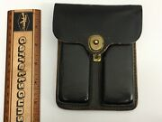 Two Original Wwii 1911 .45 Acp 7 Round Magazine Mag Clip With Leather Pouch