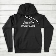 Executive Dishwasher Funny Husband Dad Fatherand039s Day Gift Wife Mom Hoodie Sweater