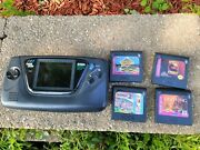Sega Game Gear Model 2103 Handheld Video Game System Console With 4 Games