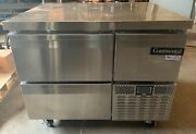 Continental 3 Drawer Stainless Steel Under Counter Refrigerator Cfa43 Clean