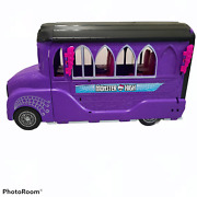 Monster High Doll Huge Deluxe Bus Rv Mobile Salon Spa Vehicle Purple Car Playset