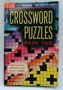 Poplar Library 150 Crossword Puzzles Book 2 Af+ 1st Unused 1948 White Pages Rare