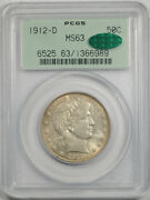 1912 D 50c Barber Half Dollar Pcgs Ms 63 Uncirculated Ogh Cac Approved Cert6989