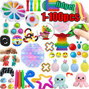 1-100x Popit Fidget Toy Set Sensory Toy Pack For Adhd Anti-anxiety Stress Relief
