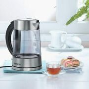 Electric Jug Kettle Glass Hot Water Boiler Tea Heater With Led Indicator 1.7l