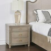 Jennifer Taylor Dauphin Freestanding End Table Grey Cashmere Gold Accent Wood