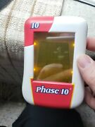 Phase 10 Electronic Handheld Game 2008 Illuminated Touch Screen Complete Works