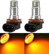 Led 20w H8 Orange Two Bulbs Fog Light Replacement Upgrade Stock Replace Halogen