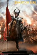 Tbleague Phicen Seamless Female Body Knight Of Fire Black 1/6 Action Figure