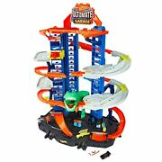 Hot Wheels City Ultimate Garage Track Set With 2 Toy Cars Garage Playset Feature