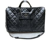 Casual Riviera Quilted Calfskin Large Bag 💯 Authentic