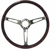 15 Classic S6 Series Deluxe Espresso Stained Wood Riveted Steering Wheel