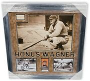 Honus Wagner Signed Autographed Cut Display Collage Framed Pittsburgh Pirates Ga