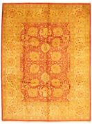 Vintage Hand-knotted Carpet 9and0391 X 12and0390 Traditional Geometric Wool Area Rug