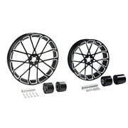 21 Front 18and039and039 Rear Wheel Rim W/ Disc Hub Fit For Harley Street Glide 08-21 Cnc