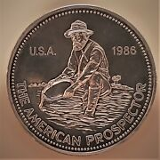 1986 The American Prospector Silver Round