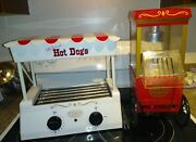 Nostalgia Popcorn Maker And Hot Dog Roller Lot Summer Fun Bbq Party
