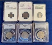 Italy Kingdom 1892-1925 Coins Anacs Ngc Pcgs Certified Group Lot Of 6 2 Lire
