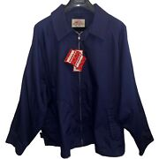 Vintage Mcgregor Drizzler Brand Jacket Full Zip 80and039s Poly Cotton Blend Size 3x