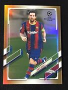 Lionel Messi 2021 Topps Chrome Uefa Champions League Gold Refractor Sp 31/50