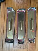Solid Brass Door Pull Plates 3 With Brass Solid Push Plates 2 Ives Co.