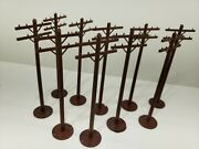 Model Train Layout Telephone Poles With Bases O Gauge