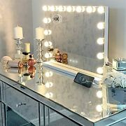 Large Vanity Mirror With Lights Hollywood Lighted Makeup Mirror With 15 White