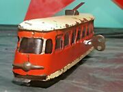 Vintage Tin Toy Trolley Train And039and039igraand039and039 Wind Up 50and039s Czechoslovakia Key Works