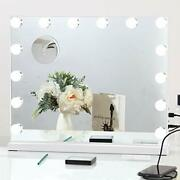 Large Vanity Mirror With Lights Hollywood Lighted Makeup Mirror With 14 White