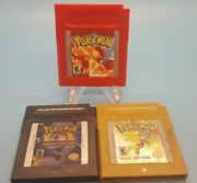 Pokemon Red, Gold, Trading Card Game Gameboy Game Lot Authentic, Tested