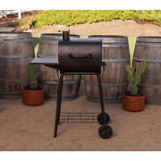 Black Barrel Charcoal Grill Porcelain Steel Wire Cooking Grids Bbq Durable New