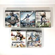 Playstation 3 Ps3 Sony Madden Nfl Lot 11, 13, 15, 16, 25 Video Game