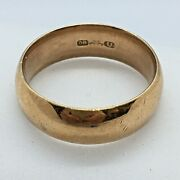 1920s Antique 7mm Gent's Art Deco Ostby And Barton Yellow Gold 10k Band Size 13