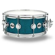 Dw Collectorand039s Finish Ply Teal Glass Snare Drum Chrome Hardware 14 X 6 In. Ln