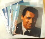 Lot Of Four Hollywood Star Promo Pix, Bios, Ty Power, Cary Grant, Alice Fay
