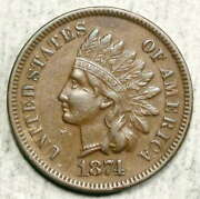 1874 Indian Cent, Choice Extremely Fine, Better Date  0617-02