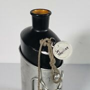 Vintage Sigg 83 Army Metal Canteen Black W Cup Je 84 Rope Stopper Tag Swiss-made