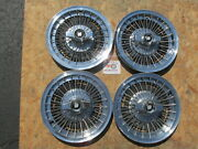 19641965 1966 Buick Lesabre 15 Wire Spinner Wheel Covers Hubcaps Set Of 4