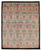 Modern Hand-knotted Carpet 7and03911 X 9and0398 Cream Wool Area Rug