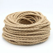 Twisted Cable Rope Electrical Wire Retro Style Copper Vintage Lamp Cord Woven