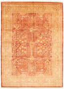 Vintage Geometric Hand-knotted Carpet 9and0393 X 12and0393 Traditional Wool Area Rug
