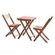 3-piece Premium Eucalyptus Wood Bistro Set 1 Table And 2 Chairs